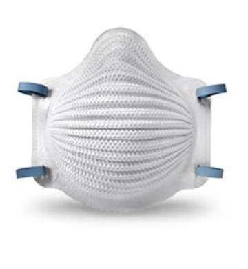 Surgical mask with Toner Plastics made elastic straps.